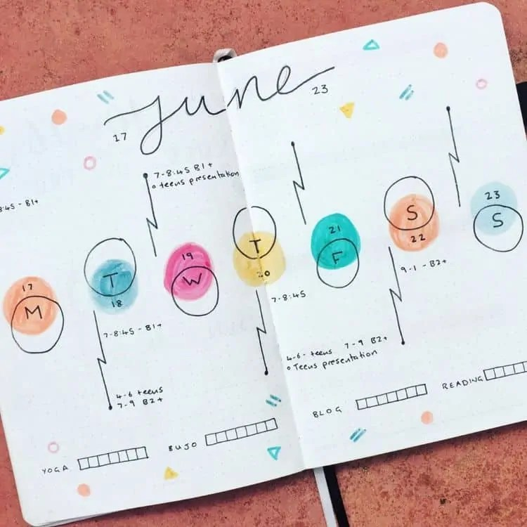 Bullet Journal June: Ideas and Inspiration 32
