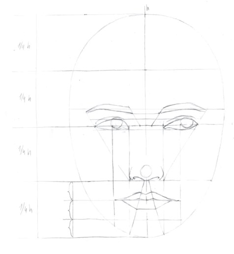 How to draw female face in 8 steps 8