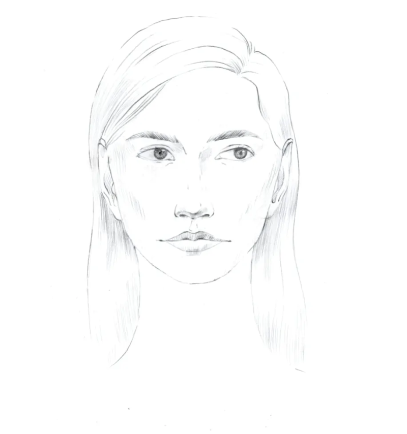 How to draw female face in 8 steps 16