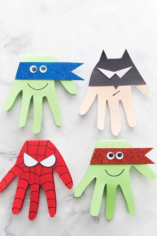 Handmade Superhero Craft Card