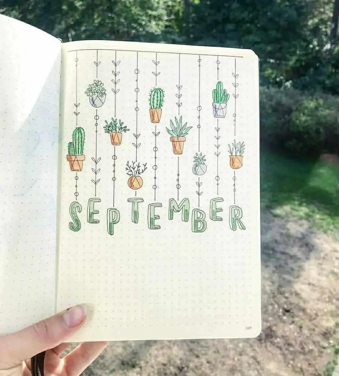 September Bullet Journal Cover Idea
