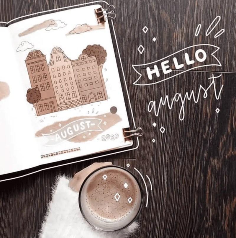 August Bullet Journal Ideas for Summer