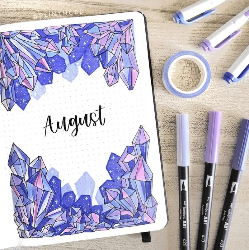 August Bullet Journal Spread Ideas 23