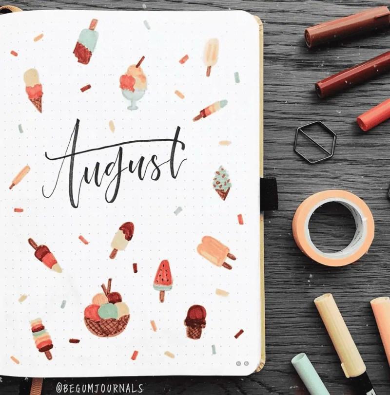 August Bullet Journal Spread Ideas 15