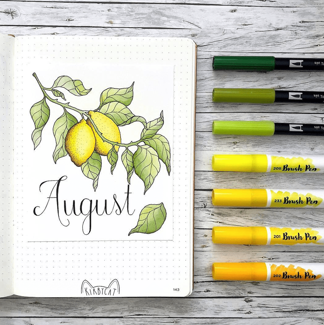 August Bullet Journal Spread Ideas 35