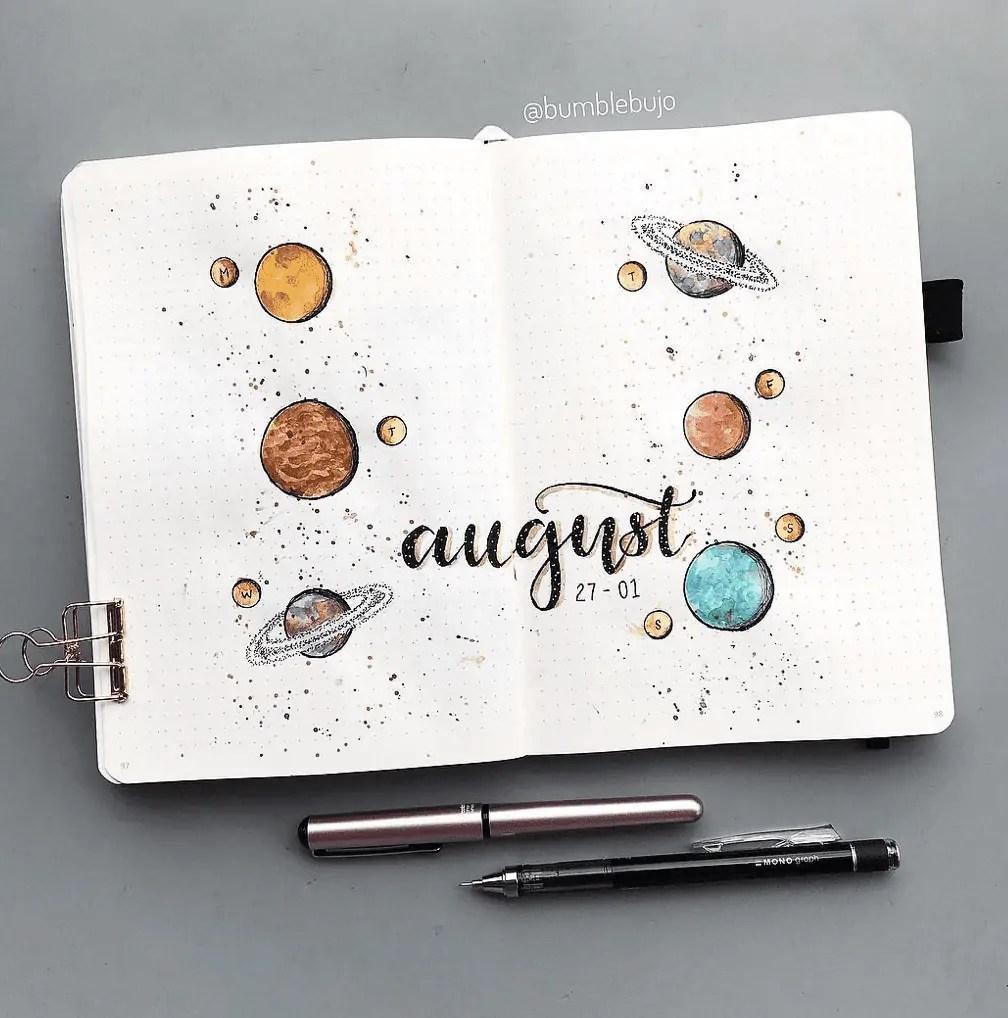 August Bullet Journal Spread Ideas 37