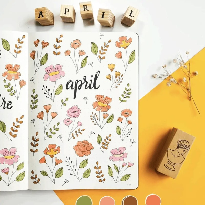 Bullet Journal Spread Ideas for Every Month of the Year 35