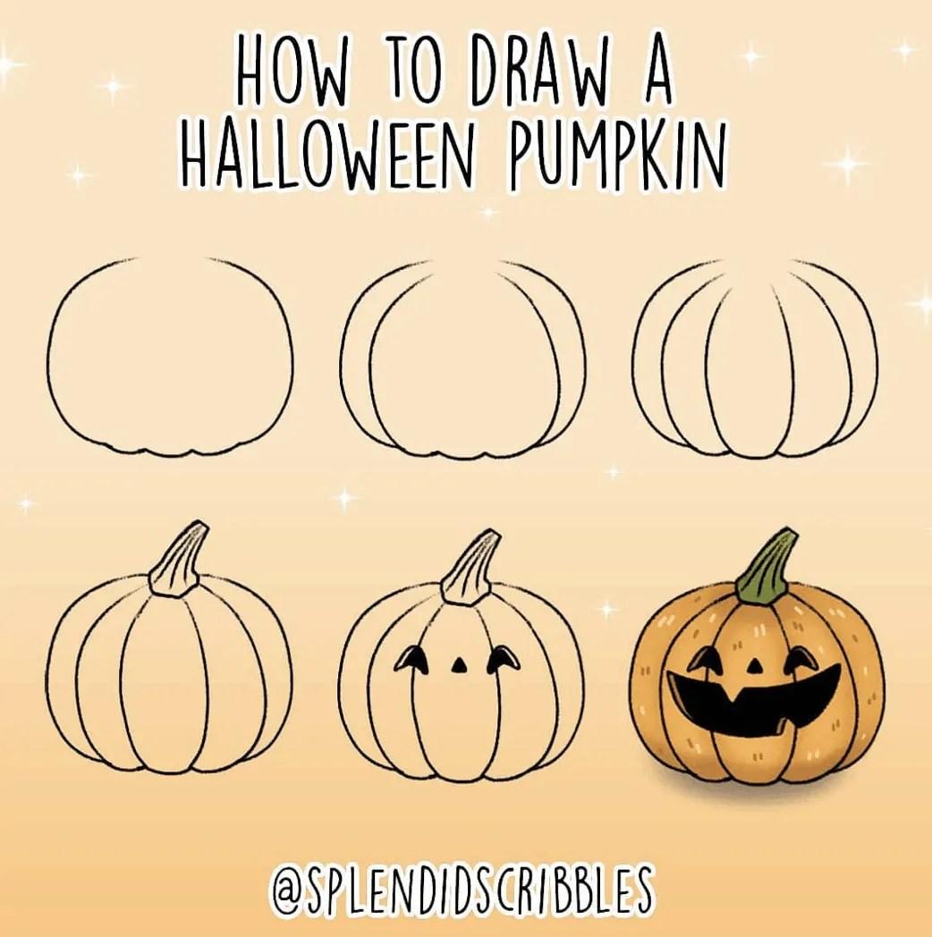 100 Bullet Journal Fall Doodles Halloween Ideas 11