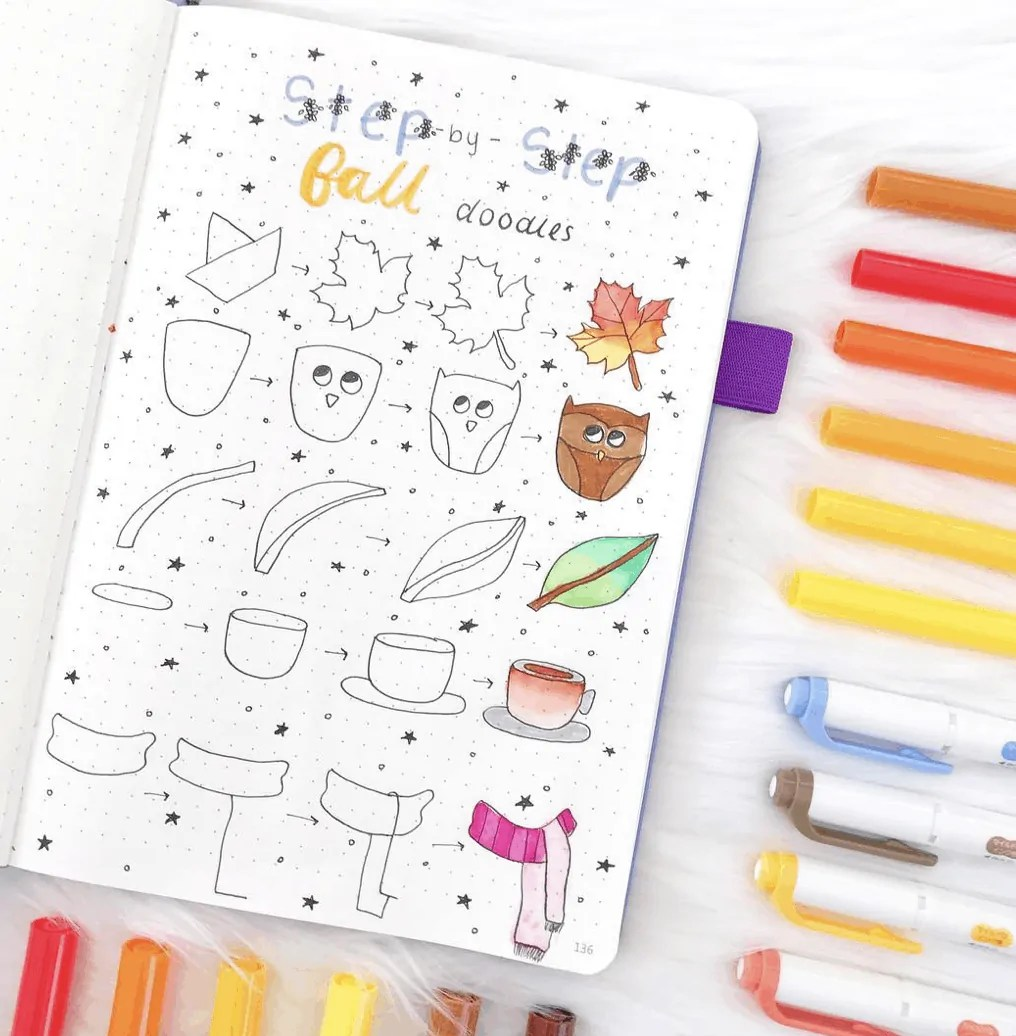100 Bullet Journal Fall Doodles Halloween Ideas 21