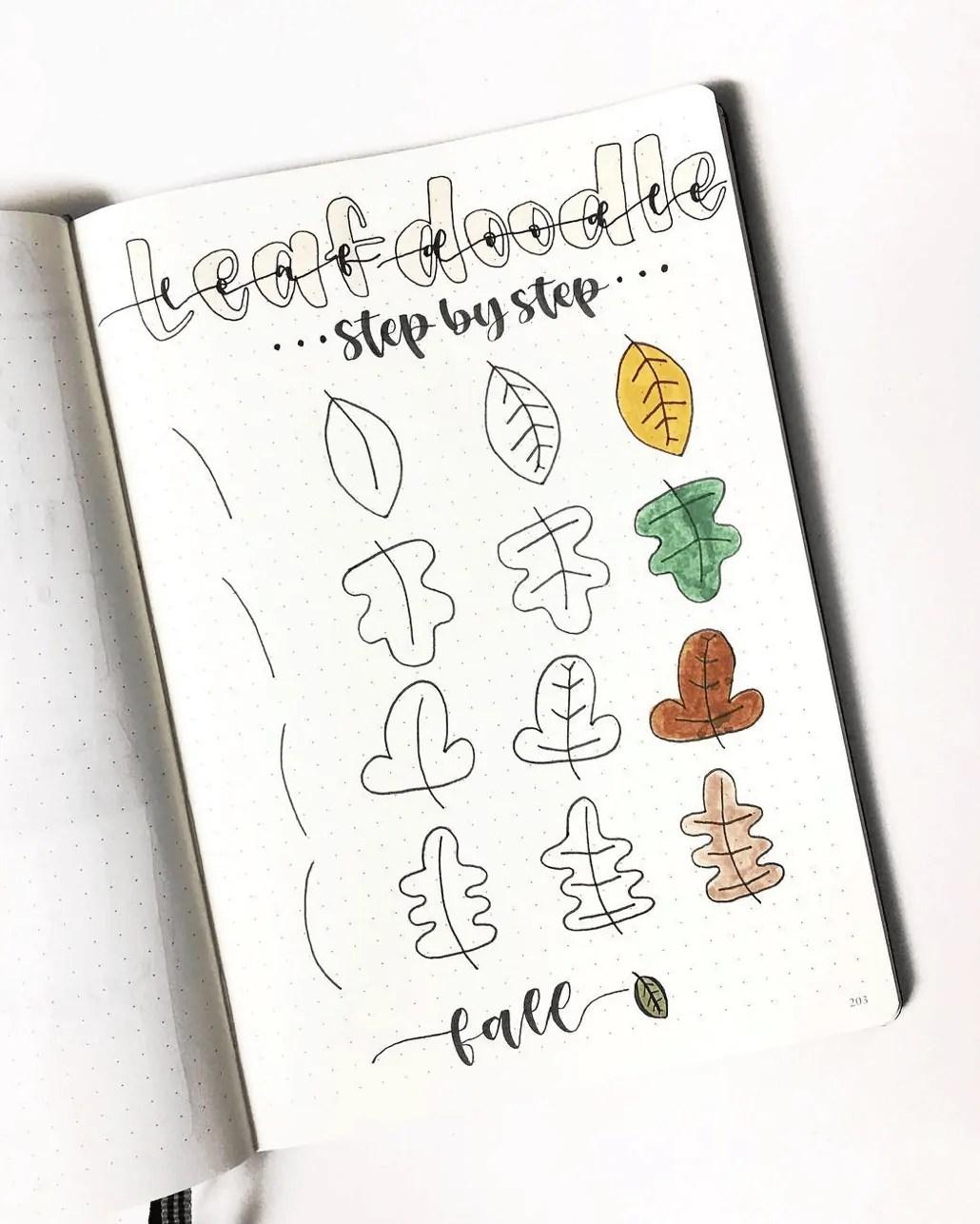 100 Bullet Journal Fall Doodles Halloween Ideas 25