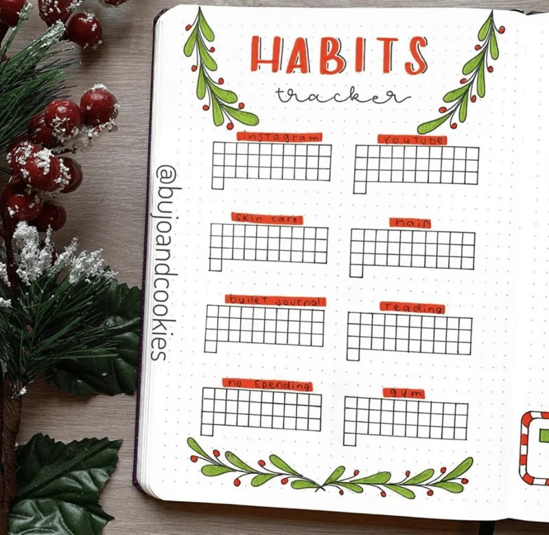 100+ December bullet journal ideas that you must see! 39