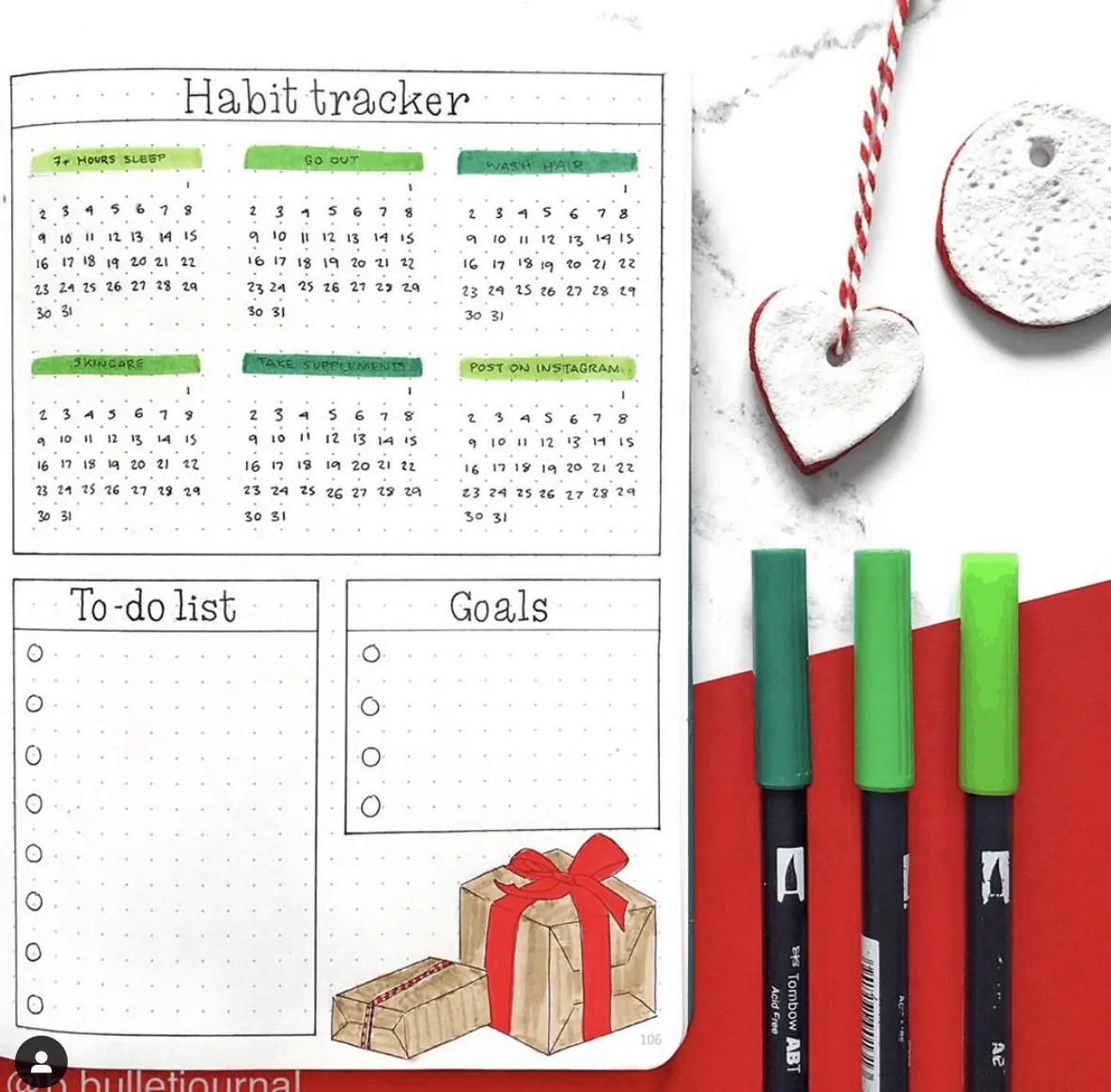 100+ December bullet journal ideas that you must see! 41