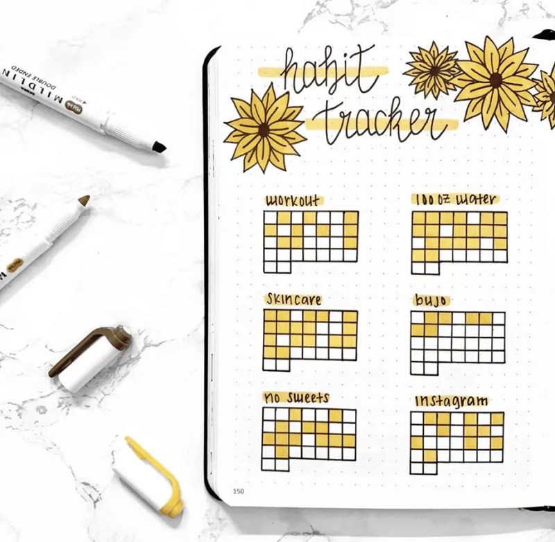 September Bullet Journal Tracker Idea