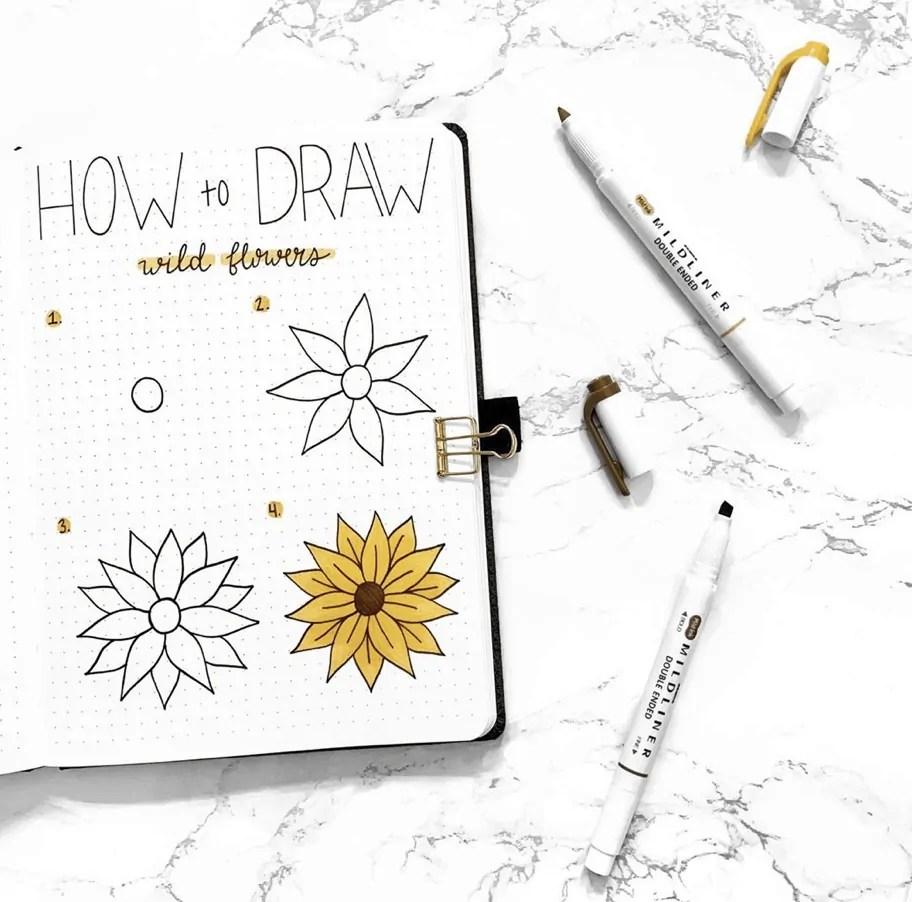 September Bullet Journal Doodle