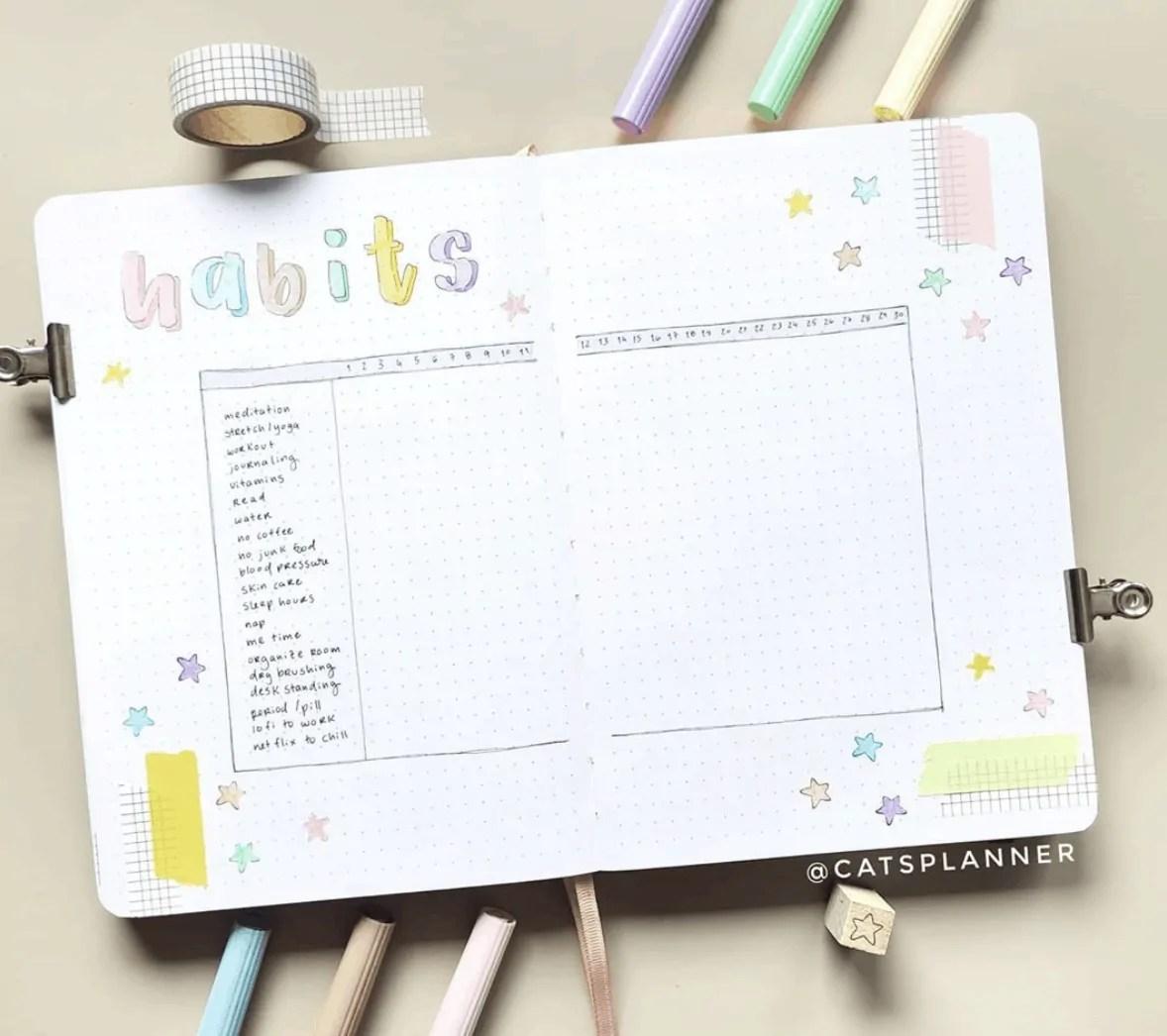 September Bullet Journal Tracker Idea