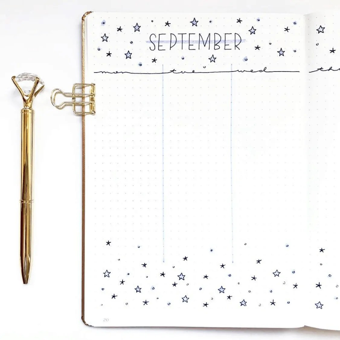 September Bullet Journal Weekly Spreads