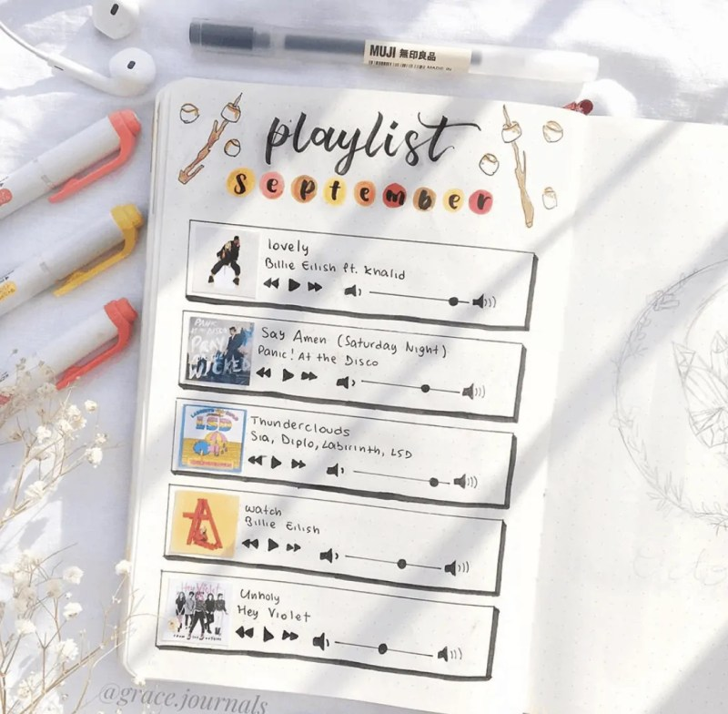 50+ Stunning September Bullet Journal Ideas you must see! 180