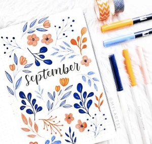 September Bullet journal