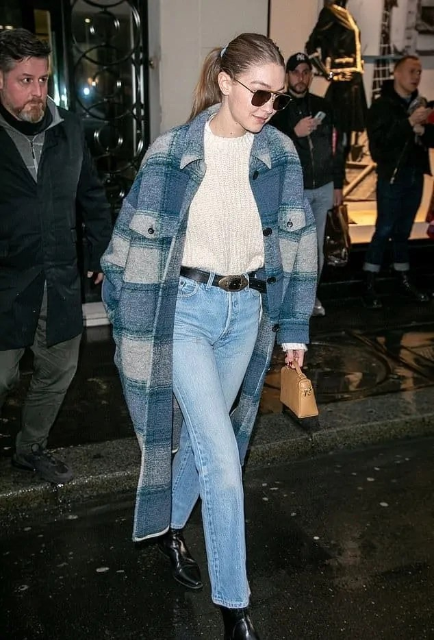 Gigi-Hadid-Black-Leather-Boots-Street-Style-Paris-2020-on-SASSY-DAILY 5