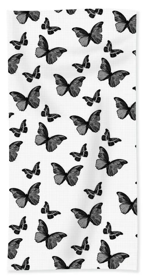 Black-and-White-Butterfly-Glam-1-pattern-decor-art-Beach-Towel-for-Sale-by-Anita-Bella-Jantz 5
