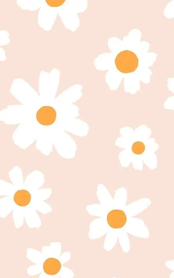 Cute-Daisy-Wallpaper-Retro-Floral-Design-MuralsWallpaper 5
