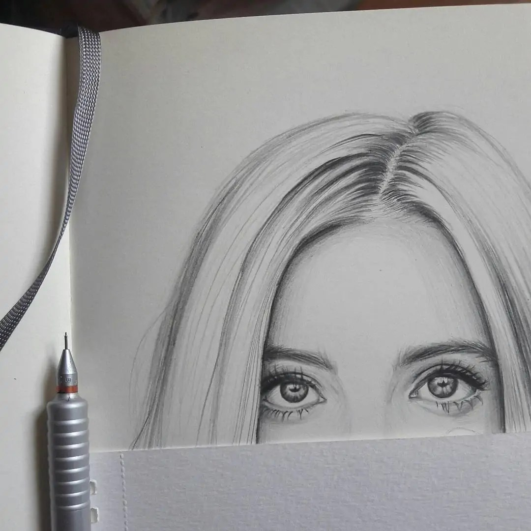 100+ Stunning Realistic Portrait Drawings 355