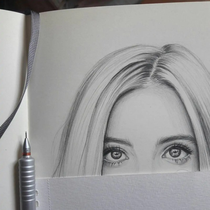 100+ Stunning Realistic Portrait Drawings 165