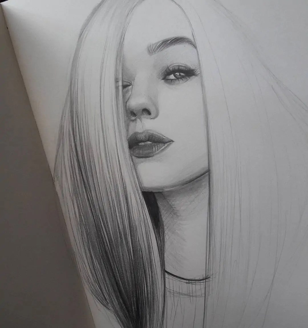 100+ Stunning Realistic Portrait Drawings 337