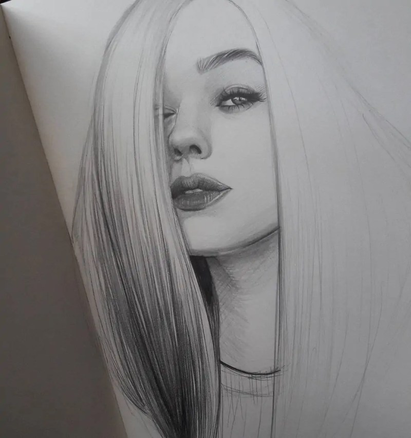 100+ Stunning Realistic Portrait Drawings 147