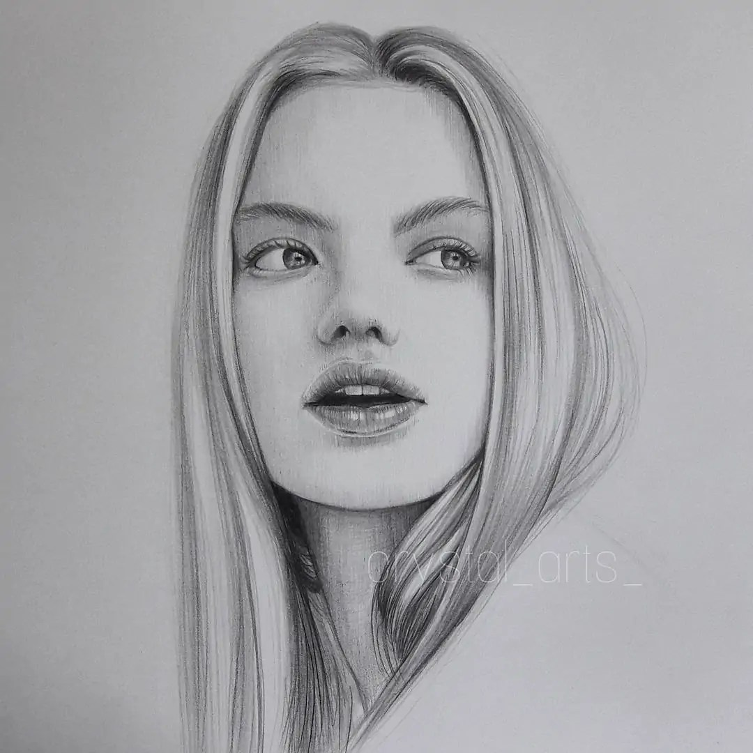 100+ Stunning Realistic Portrait Drawings 317
