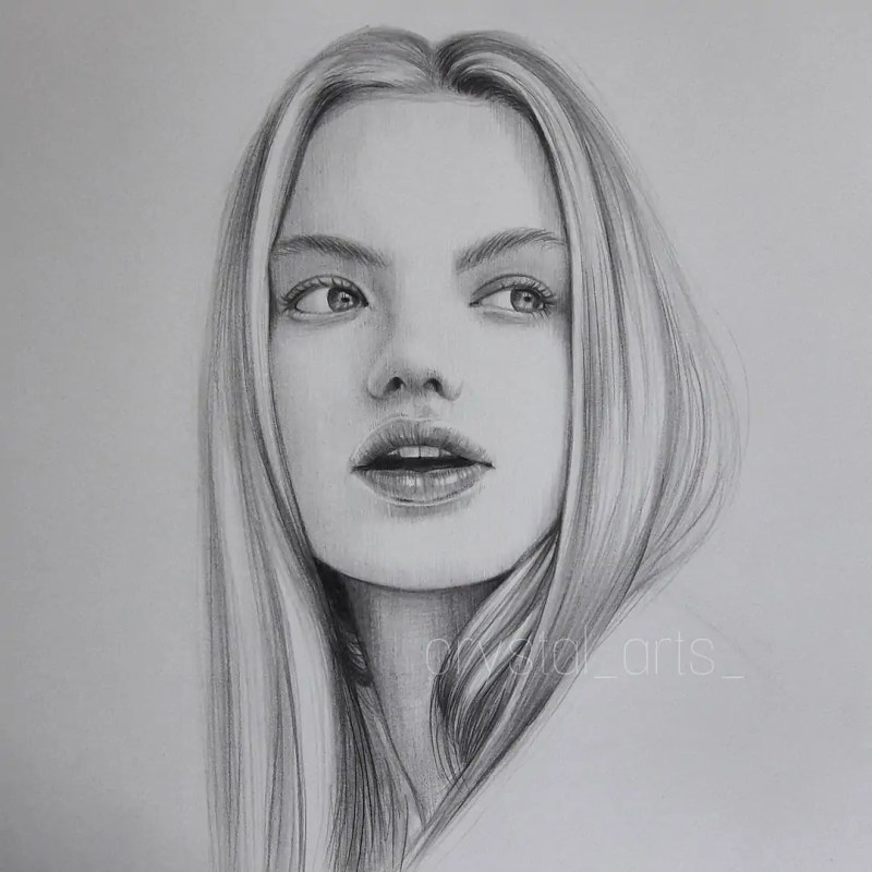 100+ Stunning Realistic Portrait Drawings 127