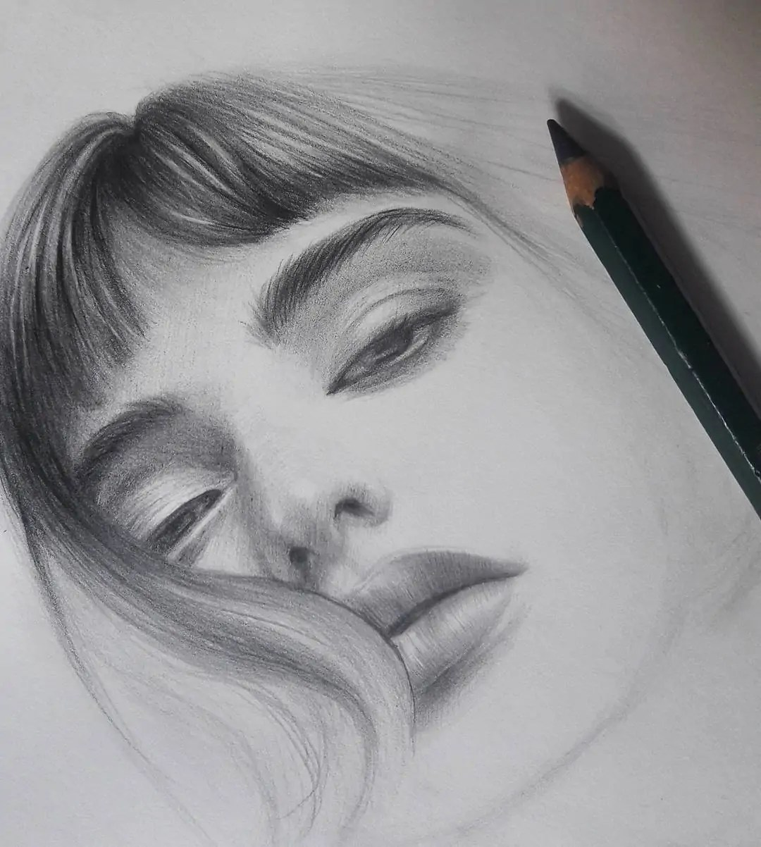 100+ Stunning Realistic Portrait Drawings 289