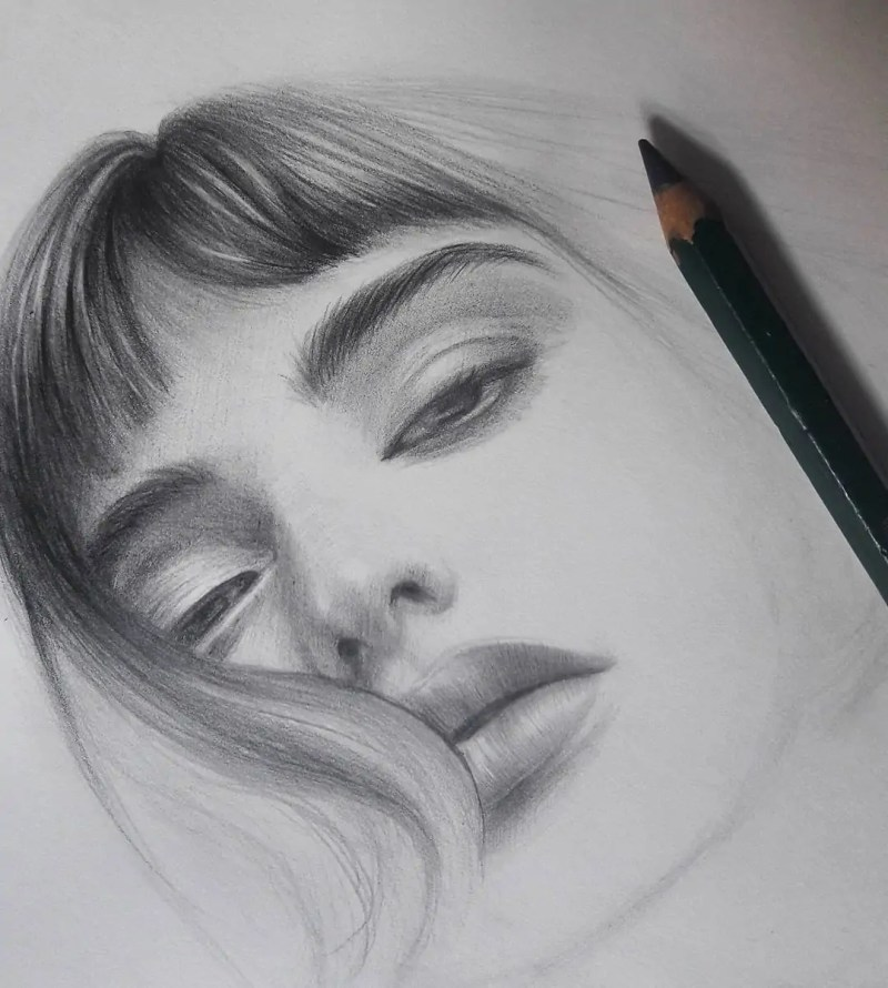 100+ Stunning Realistic Portrait Drawings 99