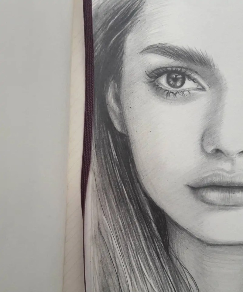100+ Stunning Realistic Portrait Drawings 87