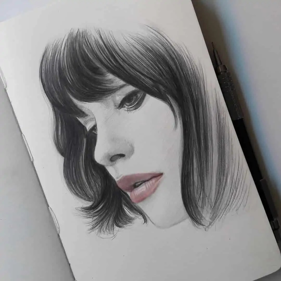 100+ Stunning Realistic Portrait Drawings 265