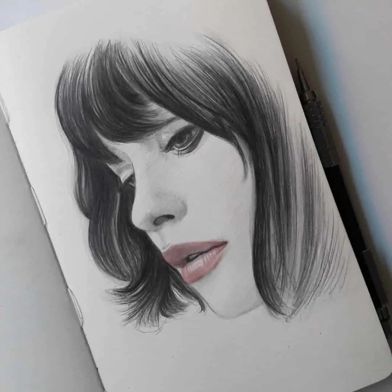 100+ Stunning Realistic Portrait Drawings 75