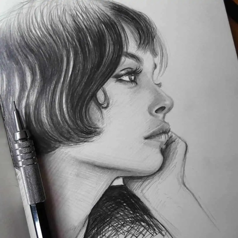 100+ Stunning Realistic Portrait Drawings 69