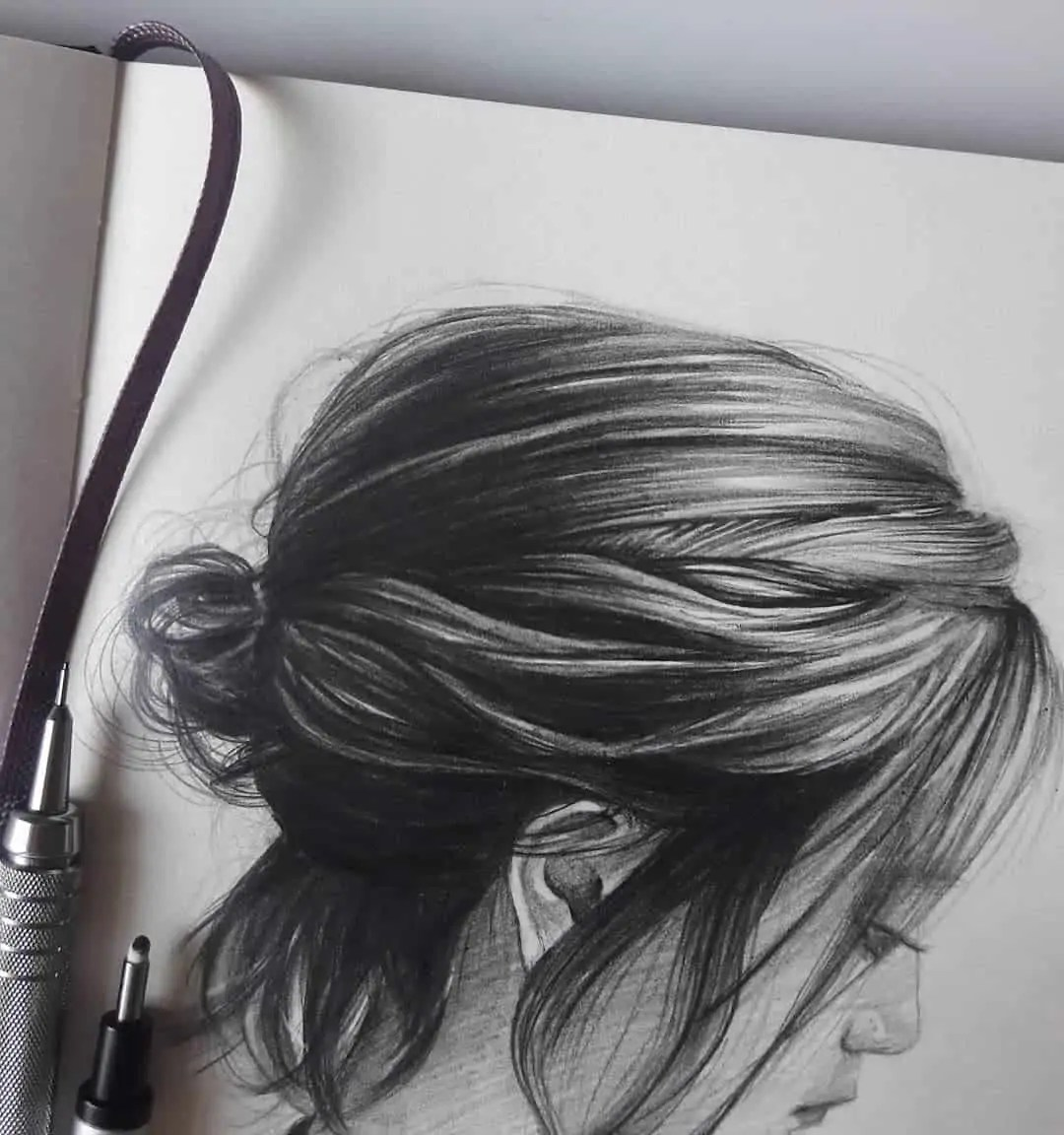 100+ Stunning Realistic Portrait Drawings 255