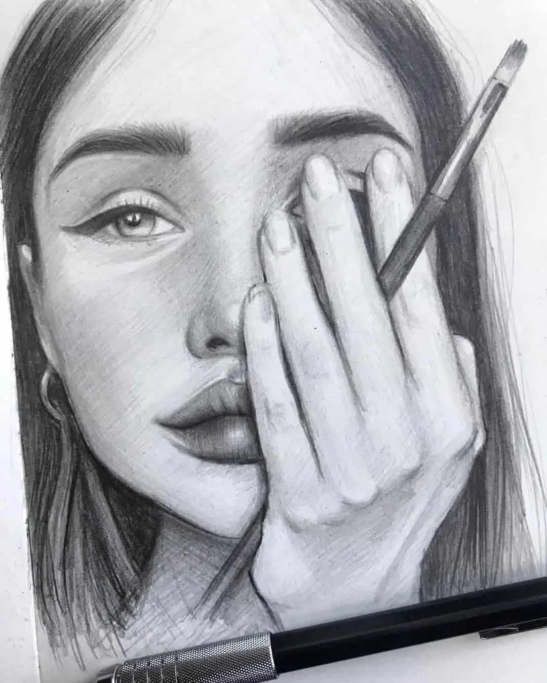 100+ Stunning Realistic Portrait Drawings 233