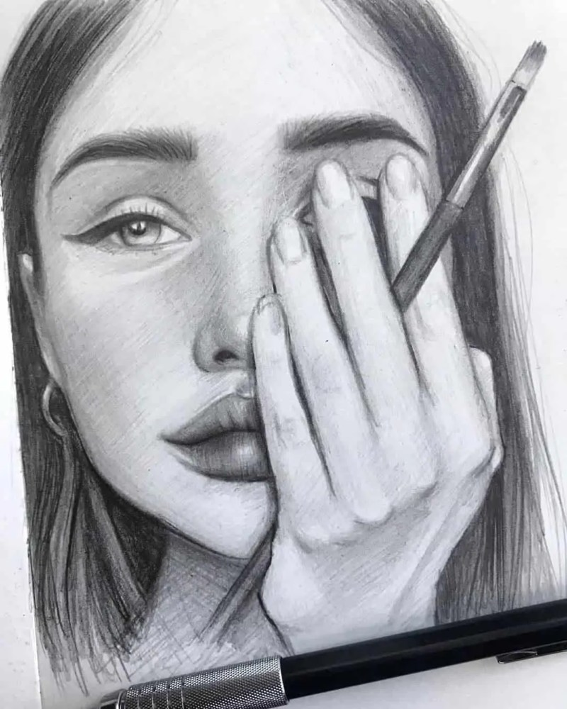 100+ Stunning Realistic Portrait Drawings 43