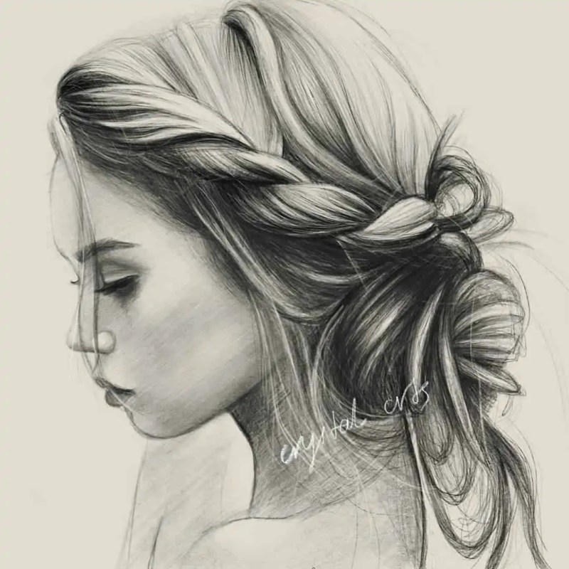 100+ Stunning Realistic Portrait Drawings 37