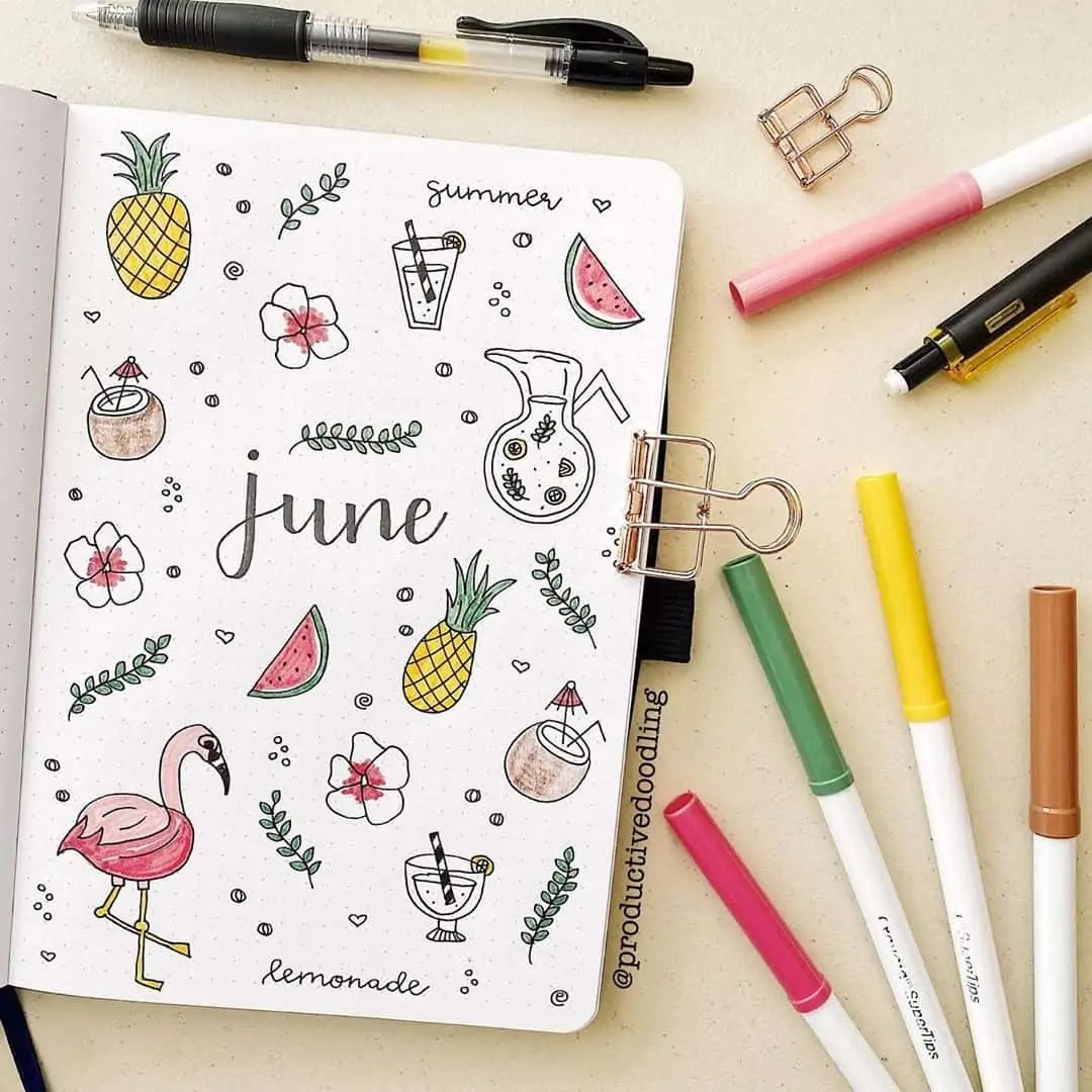 100+ Bullet Journal Ideas that you have to see and copy today! 208
