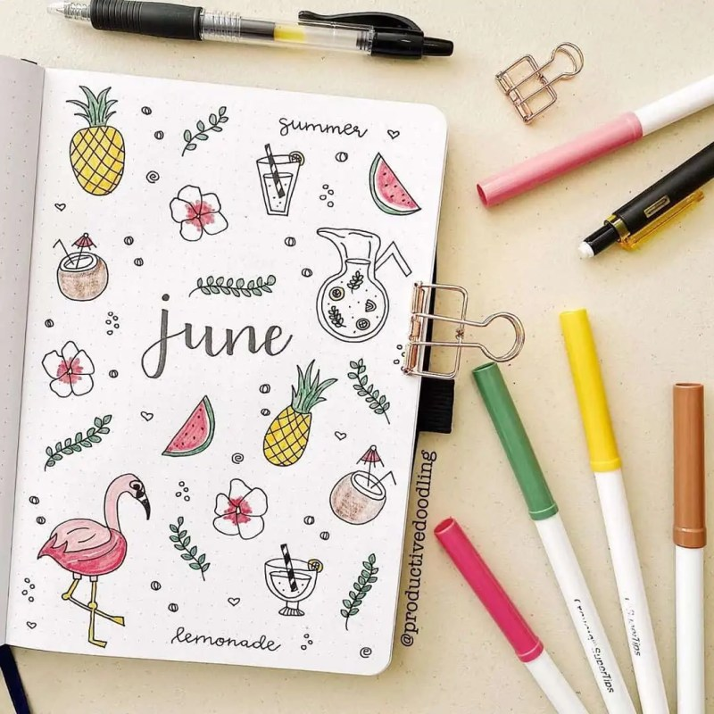 100+ Bullet Journal Ideas that you have to see and copy today! 468