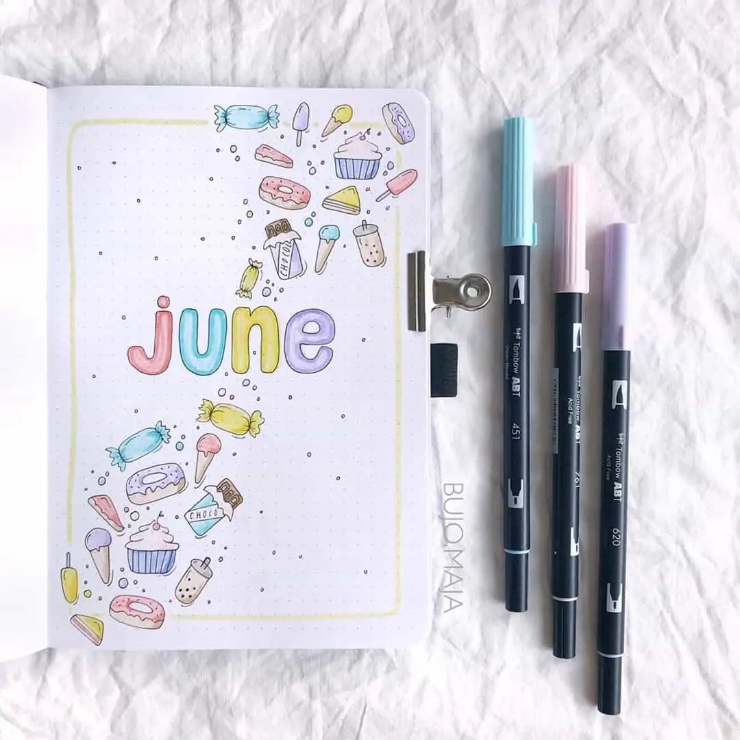 100+ Bullet Journal Ideas that you have to see and copy today! 210