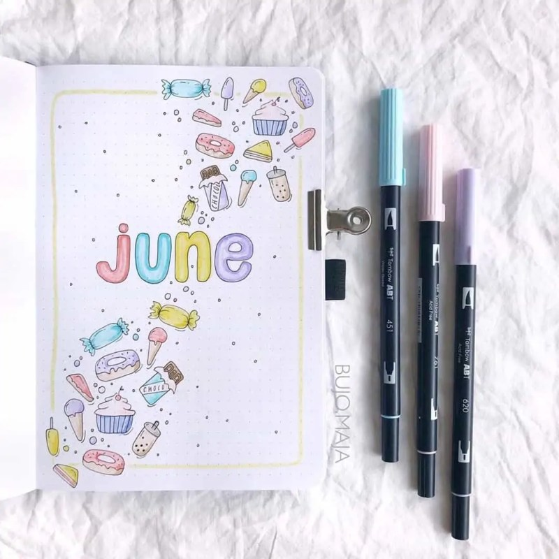 100+ Bullet Journal Ideas that you have to see and copy today! 470
