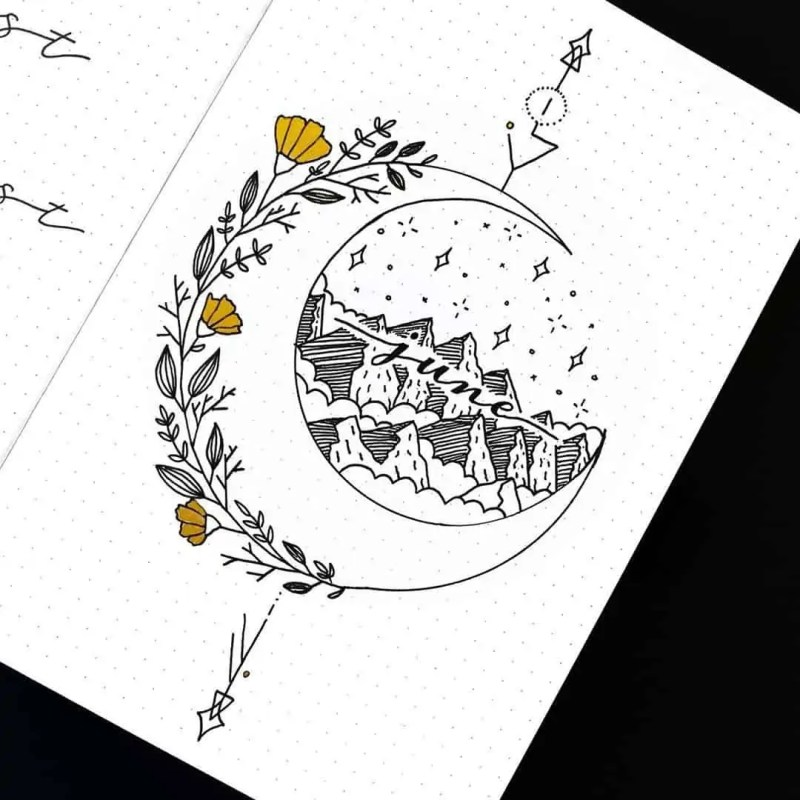 100+ Bullet Journal Ideas that you have to see and copy today! 474
