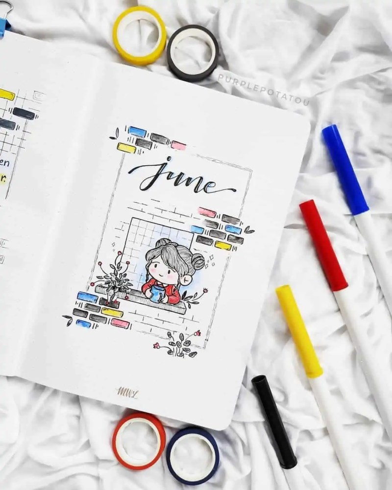 100+ Bullet Journal Ideas that you have to see and copy today! 490