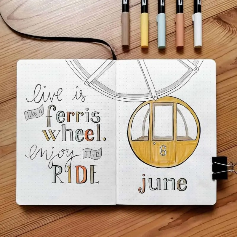 100+ Bullet Journal Ideas that you have to see and copy today! 508