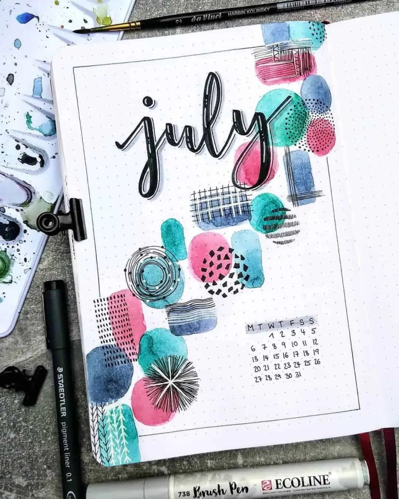 100+ Bullet Journal Ideas that you have to see and copy today! 554