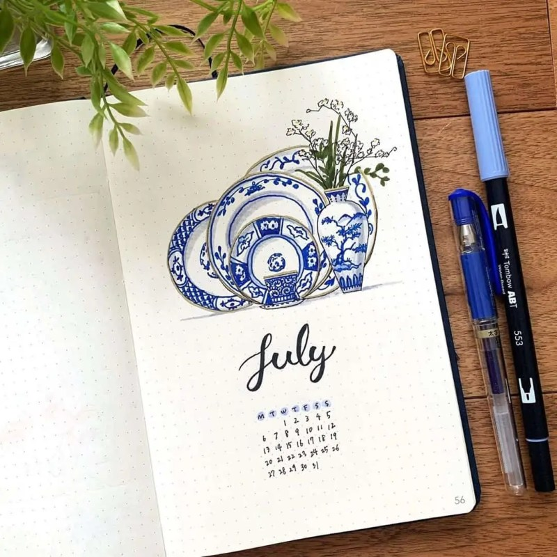 100+ Bullet Journal Ideas that you have to see and copy today! 550